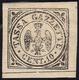 1859 - 10 Cent. Nero (5), Gomma Originale, Perfetto. Bello! A.Bolaffi Senior, Raybaudi, Cert. Ferrar... - Modena