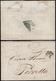1859 - 6 Baj Grigio Verdastro (7), Frazionato Diagonalmente A Metà, Bordo Di Foglio, Al Verso Di Let... - Romagne
