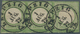 Deutsches Reich - Brustschild: 1872, ⅓ Groschen Grün Kleiner Schild Im UNGEZÄHNTEN Waagerechten Drei - Gebruikt