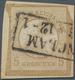 Deutsches Reich - Brustschild: 1872, 5 Gr. Ockerbraun Großer Schild UNGEZÄHNT Auf Briefstück, Entwer - Gebruikt