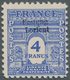 """Dt. Besetzung II WK - Frankreich - Festung Lorient: 1945, 4 Fr Violettultramarin """"Triumphbogen"""" Mit - Occupation 1938-45"""