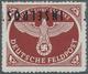 Feldpostmarken: 1944, Insel Rhodos, Inselpost-Zulassungsmarke, Durchstochen, Mit KOPFSTEHENDEM Aufdr - Unclassified