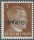 """Feldpostmarken: 1945, Ruhrkessel, 3 Pf Dkl'gelbbraun Freimarke Hitler Mit KOPFSTEHENDEM Aufdruck """"Fe - Unclassified"""