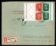 Drittes Reich 2 X MiNr. W 23 Mehrfachfrankatur Auf R-Brief Gelaufen (MA747 - Zusammendrucke