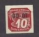 Böhmen Und Mähren 1939 MH * Mi 51 Sc P10 Aufdruck GD-OT. Bohemia & Moravia. - Bohemia & Moravia