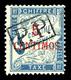 * N°18, 5c Sur 5c Bleu Surchargé 'P.P'. SUP (signé/certificat)  Qualité: *  Cote: 1700 Euros - Marokko (1891-1956)