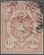 Gest. 1852, 15 Cts. Rayon III Type 2, Vollr. Pra.stück, Tiefsign. Abt, Mi. 950.- (Michel: 11) - Schweiz