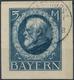 Briefst. 1914, 5 M. Ludwig Type I Ungezähnt Auf Gest.Kab.briefstück,tiefstsign. Dr.Helbig Und Infla,  Mi. 750.- (Michel: - Bayern