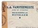 Lettre Belgique Vansteenkiste Lin Étoupe Rue De Courtrai Wevelgem Hellemmes Nord Censure WW2 Seconde Guerre Mondiale - België