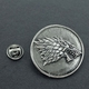 1 Pins Pin's NEUF En Métal Style Retro ( Brooch ) - GOT Game Of Thrones Stark 3,5 Cm ! - Cinéma