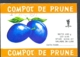 78496- PLUM COMPOTE, LABELS, 1977, ROMANIA - Frutta E Verdura