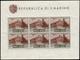 "MNH ) SAN MARINO 1951 | Foglietto Posta Aerea. 500 Lire ""Veduta"" |  | Cert. Bolaffi |  | MNH..........(Sass. 12) - San Marino"
