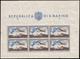 """MNH ) SAN MARINO 1951   Foglietto Posta Aerea. 1000 Lire """"Bandiera, Aereo E Veduta""""      MNH..........(Sass. 13 - San Marino"""
