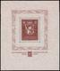 "MNH ) LIECHTENSTEIN 1934   Foglietto ""Esposizione Filatelica Di Vaduz"". 5 Franchi Bruno Rosso      Cert. G. Bol - Zonder Classificatie"