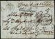 1852 - Lettera Non Affrancata Da Corfù 14/5/1852 A Firenze, Sul Fronte E Al Verso Segni Di Tassa E B... - Toscane