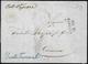 """1857 - Lettera Prefilatelica Da Napoli 15/9/1857 A Genova, Per La """"Via Di Sarzana"""". Sul Fronte Il Li... - Tuscany"""