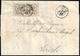 1855 - 8 Baj Bianco, Falso Per Posta Di Bologna, I Tipo (F4), Due Esemplari, Perfetti, Su Lettera Da... - Estados Pontificados