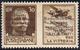BASE ATLANTICA 1943 - 30 Cent. Aeronautica, Doppia Soprastampa Di Cui Una Capovolta (18a), Gomma Int... - Italie