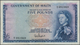 Malta: 5 Pounds 1961 P. 27a With Light Folds In Paper, Still Strongness And Nice Colors, Condition: - Malta