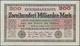 Deutschland - Deutsches Reich Bis 1945: 200 Milliarden Mark 1923 Ro. 118e, In Erhaltung F+ Bis VF-. - Duitsland