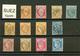 SUEZ : GC 5105 Sur 12 Timbres (n°21, 23, 24, 28, 29, 31, 38, 46, 54, 56, 57, 60). 6 Certificats CALVES. TB, /B Ou Pd. - France (former Colonies & Protectorates)