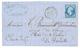 """""""PIQUAGE De SURGERES"""" : 1862 20c(n°14) Type 2 Avec Piquage Spécial Obl. PC 2956 + T.15 SURGERES Sur Lettre. RARE. Superb - 1853-1860 Napoleon III"""