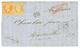 """""""METIDJA"""" : 1865 10c(n°21) + 40c(n°16) Obl. Ancre + Cachet Rarissime Du Paquebot METIDJA 14 Janv 65 Sur Lettre Avec Text - Marcofilia (sobres)"""