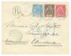 ANJOUAN : 1893 15c + 25c + 50c Obl. ANJOUAN COL. FRANC. Sur Env. RECOMMANDEE Pour AMSTERDAM. TTB. - France (former Colonies & Protectorates)