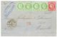 1875 CG CERES 80c + 5c(x4) Obl. MQE + MARTINIQUE ST PIERRE Sur Lettre Pour MARSEILLE. Affrt Rare De Trés Belle Qualité.  - Martinica (1886-1947)