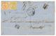REUNION : 1867 COLONIES GENERALES AIGLE 10c + 40c Obl. ANCRE + LIGNE T PAQ FR Sur Lettre TAXEE Avec Texte De ST DENIS Po - Réunion (1852-1975)