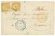 REUNION : 1868 10c AIGLE(x2) + CORR. D' ARMEES ST DENIS Sur Enveloppe Pour La FRANCE. TB. - Non Classés