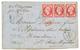"""""""Affrt à 2F40 Pour L' ILE Aux CHIENS"""" : 1866 80c(n°24)x3 Obl. GC 3734 Sur Lettre De ST MALO Pour L' ILE AUX CHIENS (ST P - Ohne Zuordnung"""