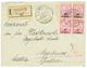 ALBANIA : 1914 20p On 10q Block Of 4 On REGISTERED Envelope From SCUTARI To AUSTRIA. RARE. Superb. - Albania