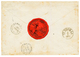 "DANISH WEST INDIES : 1857 ""8"" Tax Marking On Envelope From MARTINIQUE To ""GOUVERNEUR De STE CROIX"". Verso, British Cds M - Denmark (West Indies)"