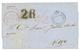1857 CROWN CIRCLE PAID AT SAN JUAN PORTO RICO On Entire Letter To VIGO (SPAIN). Superb. - Zonder Classificatie