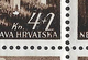 Croatia 1942 MNH White Spot Under Arch Variety  Mi#84 - Croatie