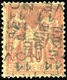 (*) 40c. Rouge-orange Sur Paille. 11 NOVEMBRE 1893 Horizontal Double Impression Renversée. RRR. TB.(cote : 9000) - Voorafgestempeld