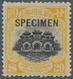 "China: 1919, Hall Of Classics Peking Printing $20 Yellow/black, Ovpt. ""SPECIMEN"", No Gum, Fresh Colo - China"