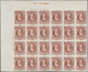 Brasilien: 1878-79, 700 R. Red-brown Imperf Block Of 24 On White Wove Paper, Left Top Wide Corner Ma - Brazilië