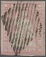 Schweiz: 1854, 15 Rp. Erster Berner Druck Auf Seidenpapier (SBK 24 F), ALLSEITIG WEISSRANDIGER SCHNI - Gebruikt