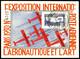 O N°6c, 1F50 Outremer Perforé 'E.I.P.A.30' Sur Carte De L'exposition, Très Jolie Pièce (certificat)  Qualité: O - Airmail
