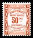 * N°47, 50c Rouge, Quasi**, TB (certificat)  Qualité: *  Cote: 450 Euros - 1859-1955 Afgestempeld