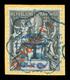 O N°3, 50c Bleu Sur 1c Noir Sur Azur Sur Son Support, Très Bon Centrage. SUP (certificat)  Qualité: O  Cote: 320 Euros - Französich-Somaliküste (1894-1967)