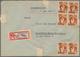 Saarland (1947/56): 1945/1958, Partie Von 60 Bedarfs-Briefen/-Karten Ab Etwas Gebühr Bezahlt Und Frz - 1947-56 Gealieerde Bezetting