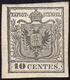 1850 - 10 Cent. Grigio Nero, I Tiratura (2b), Nuovo, Gomma Originale, Perfetto. Splendido E Raro. Qu... - Lombardy-Venetia
