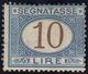 1874 - 10 Lire Azzurro E Bruno (14), Gomma Originale, Perfetto. Raybaudi, Cert. A.Diena.... - Sin Clasificación