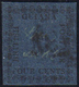 BRITISH GUIANA 1856 - 4 Cent. Blu (15), Usato. Sorani.... - Francobolli