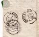 Lettre 1859 Plouaret Manoir Guernac'hanay Côtes D'Armor Bretagne Lannion Laval Mayenne Timbre Napoléon III 20 Centimes - 1853-1860 Napoleon III