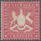 Württemberg - Marken Und Briefe: 1860, 9 Kr. Karmin, Farbfrisch Und Mit Erhabener Wappenprägung, All - Wurtemberg