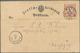 """Deutsches Reich - Brustschild: 1872, Kleiner Schild ½ Gr. Orangerot Auf Karte Mit Extrem Spätem K1 """" - Germany"""